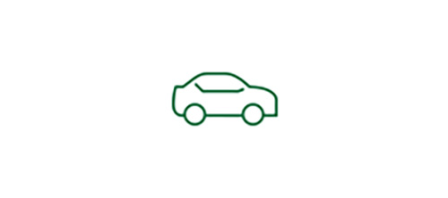 Car icon representing increased safety during low-visibility with Monofocal 1-Piece IOL