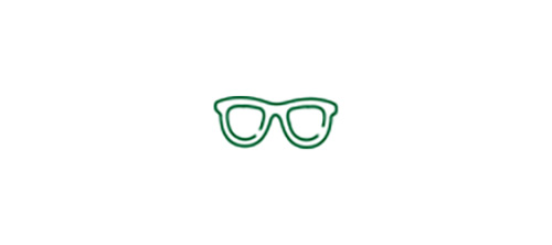 Glasses icon representing the need for glasses to see closer