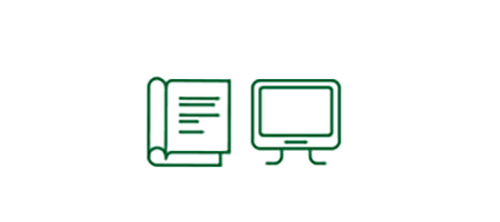 Book and computer screen icons indicating increased safety in low-visibility situations