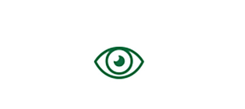 Eye icon indicating high quality distance vision with Extended Range-of-Vision Toric IOL